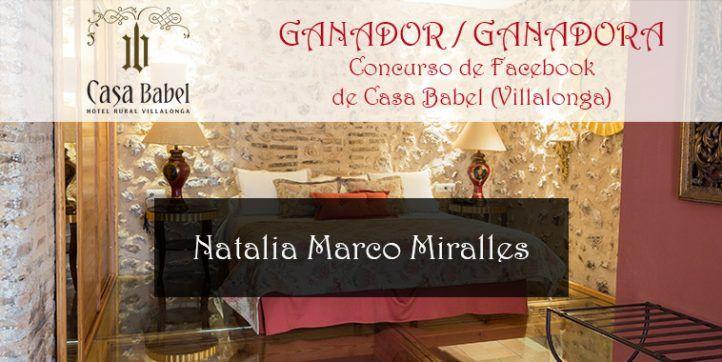 Ganadora del concurso de enero de 2017 de Casa Babel: Natalia Marco Miralles