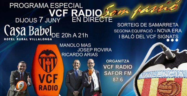El próximo jueves 7 de junio vamos a tener un programa especial de VCF RADIO en directo desde HOTEL ROMANTICO CASA BABEL.